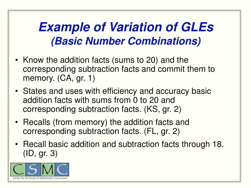 Example of Variation of GLEs