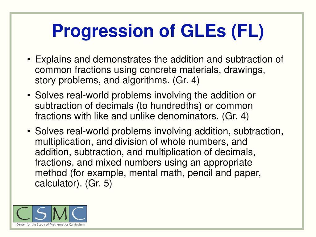 Progression of GLEs (FL)