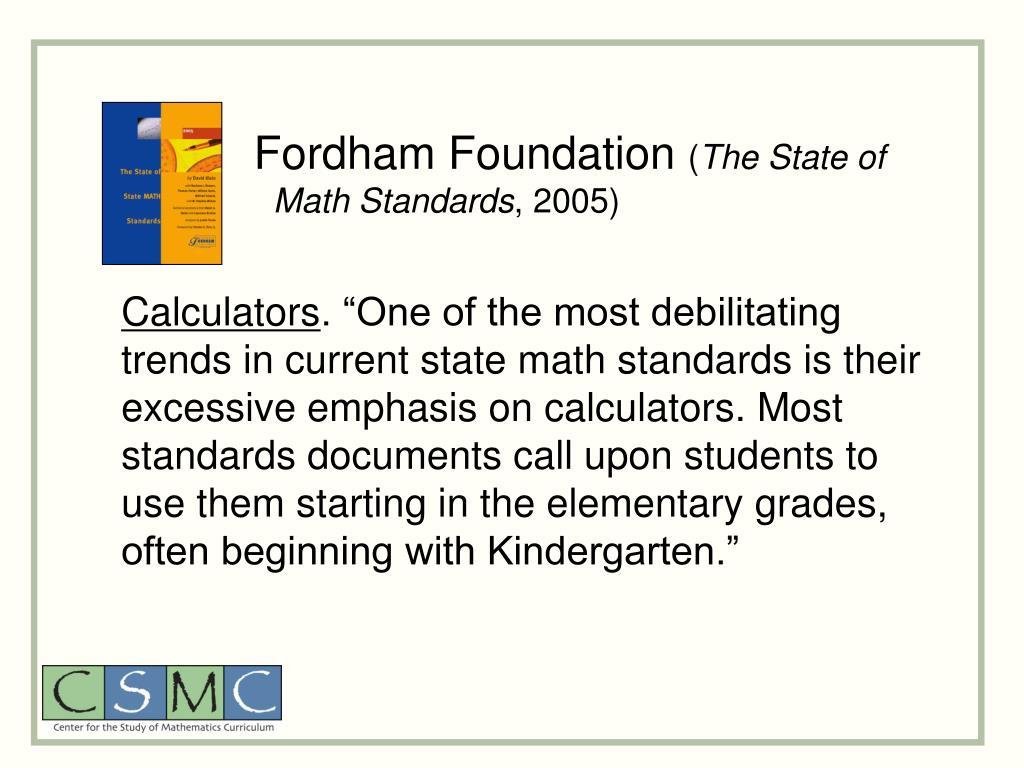 Fordham Foundation