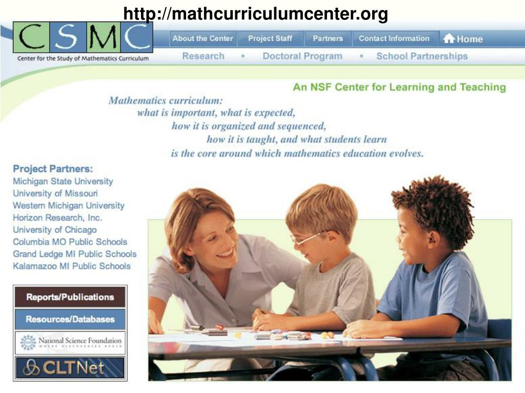 http://mathcurriculumcenter.org