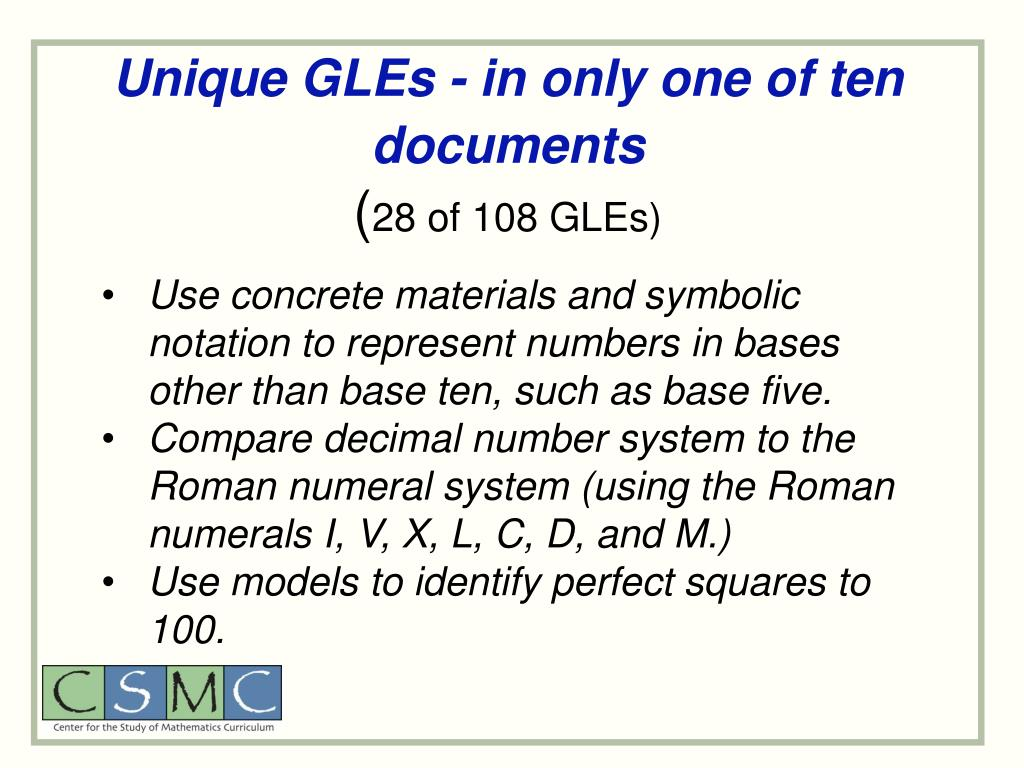 Unique GLEs - in only one of ten documents