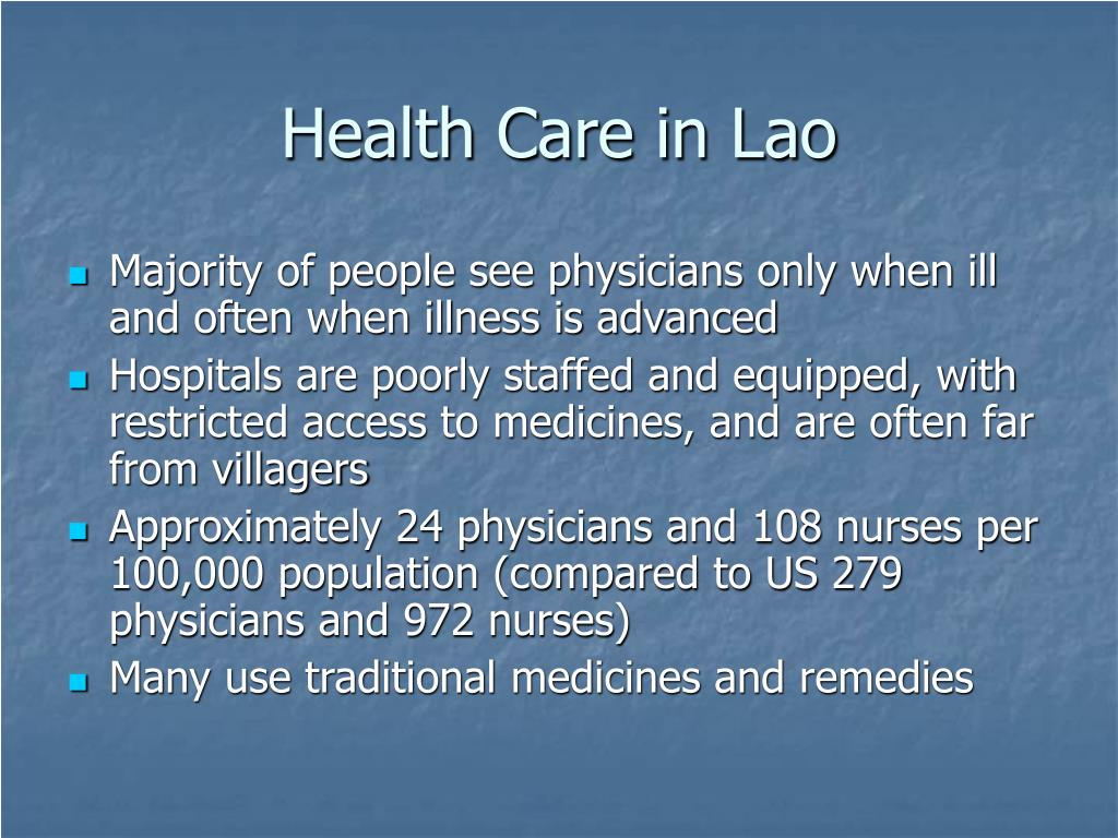 Health Care in Lao