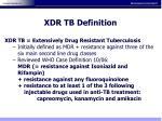 xdr tb definition