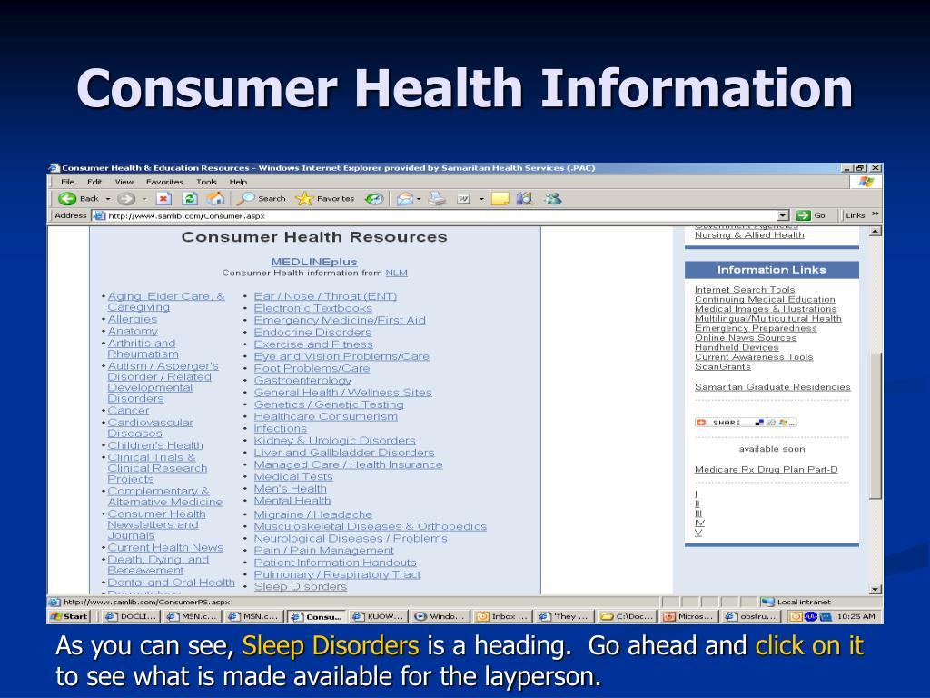 Consumer Health Information