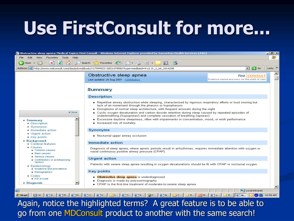Use FirstConsult for more...