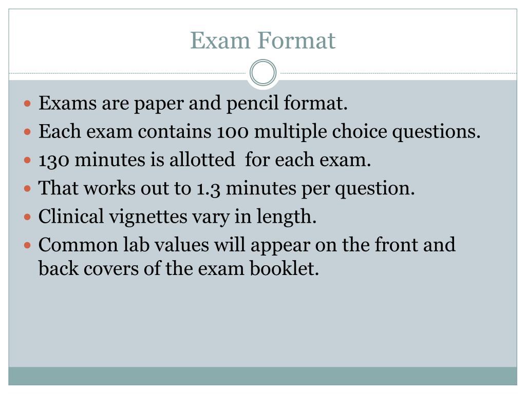 mcq exam format
