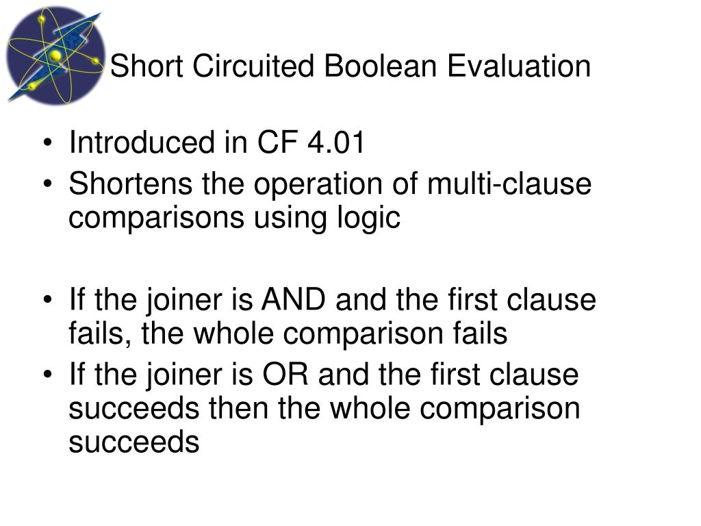 Short Circuited Boolean Evaluation