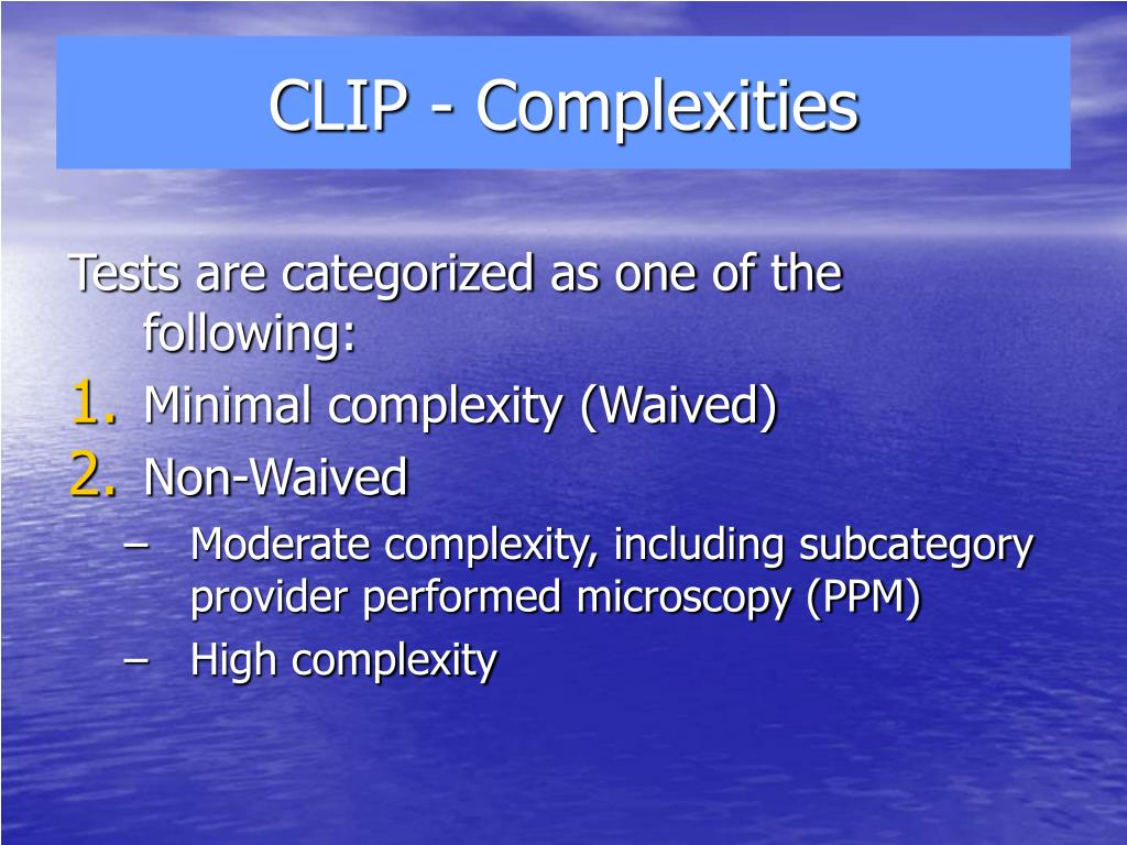 CLIP - Complexities