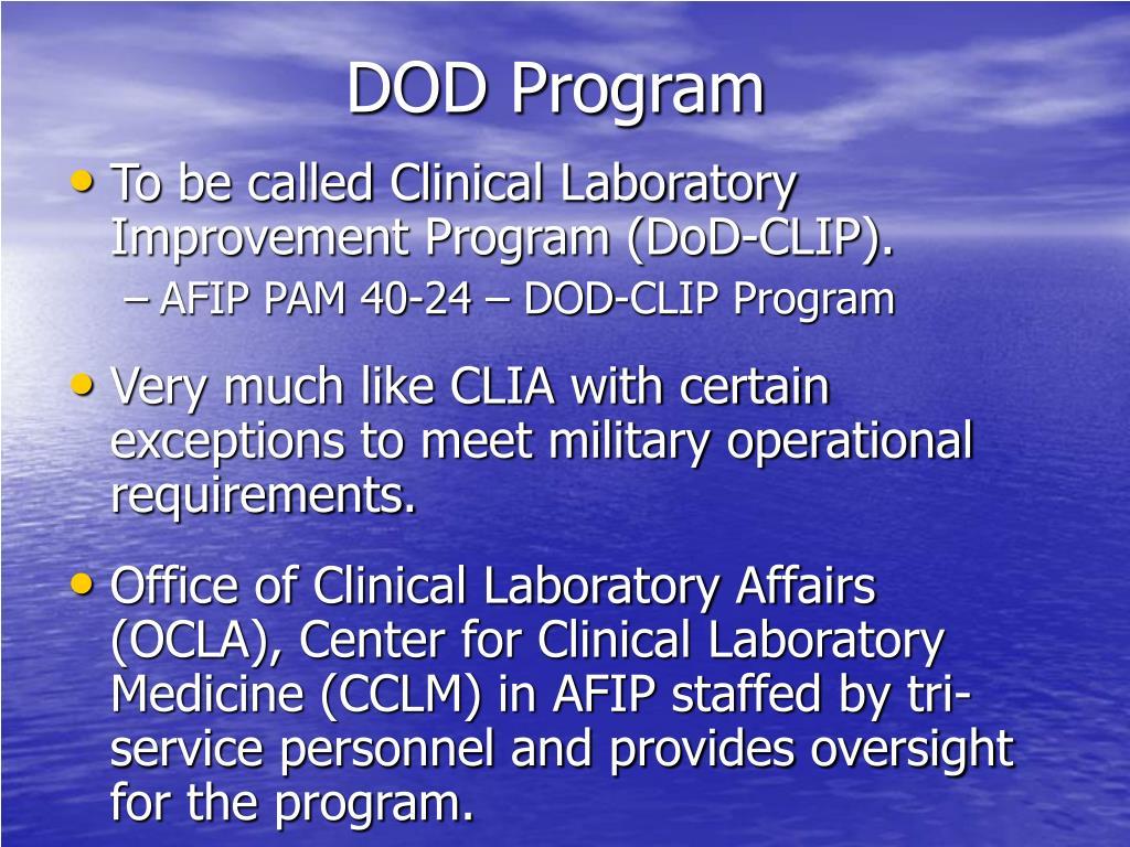DOD Program