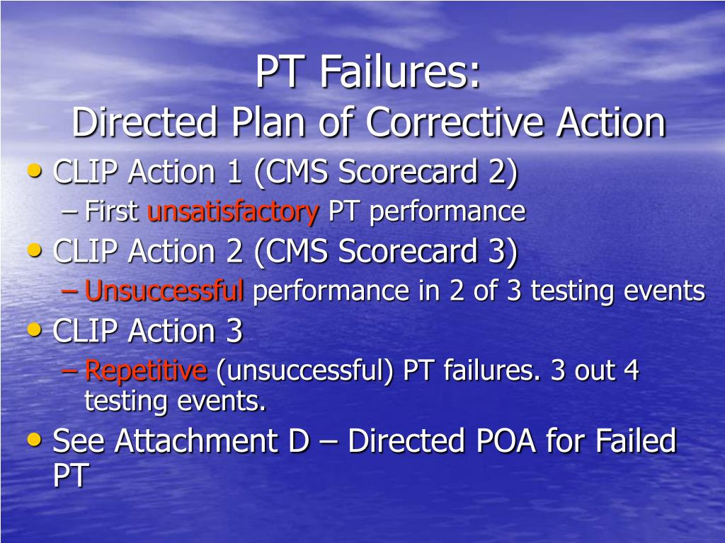 PT Failures: