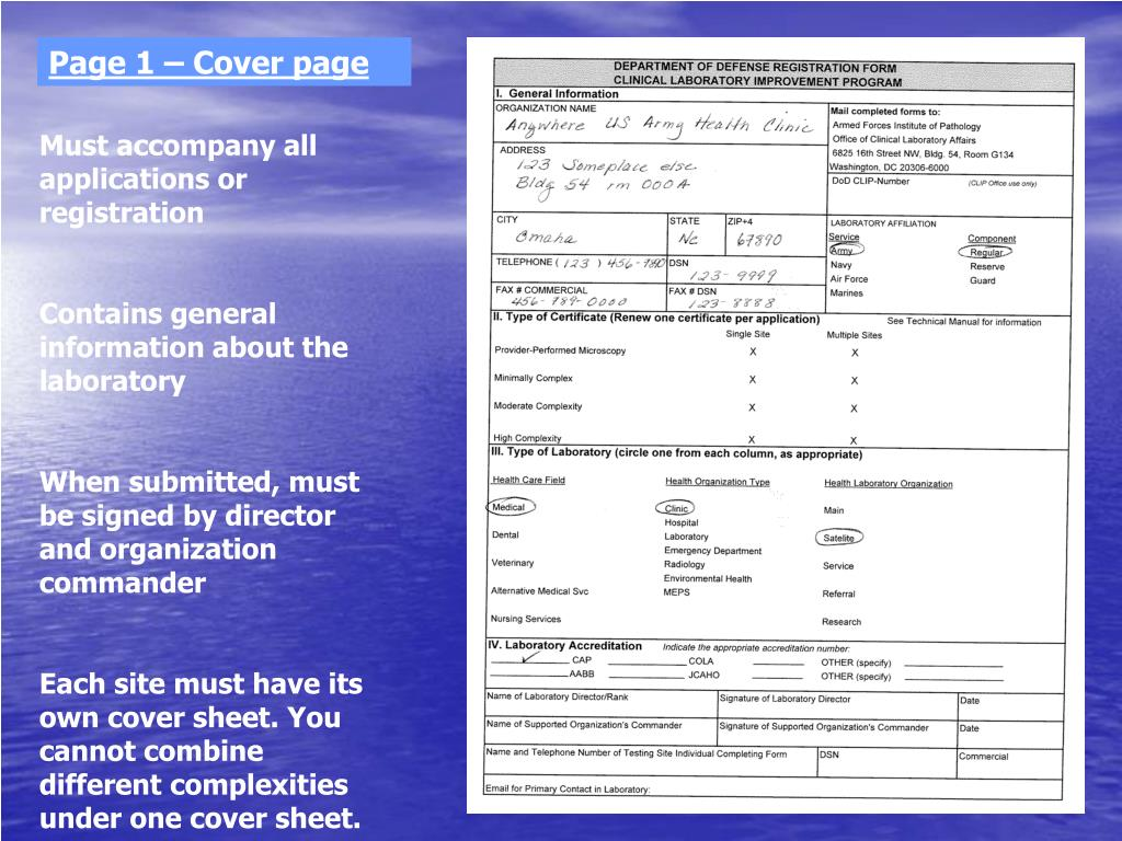 Page 1 – Cover page