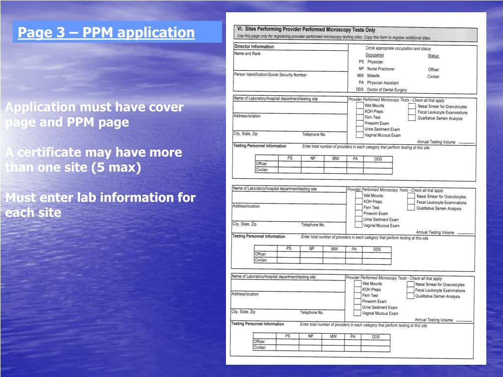 Page 3 – PPM application