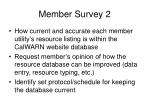 member survey 2