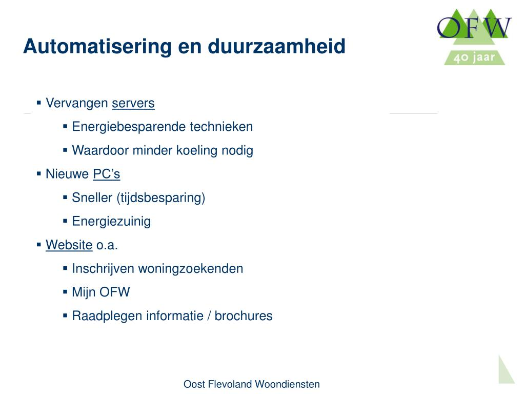 Automatisering en duurzaamheid