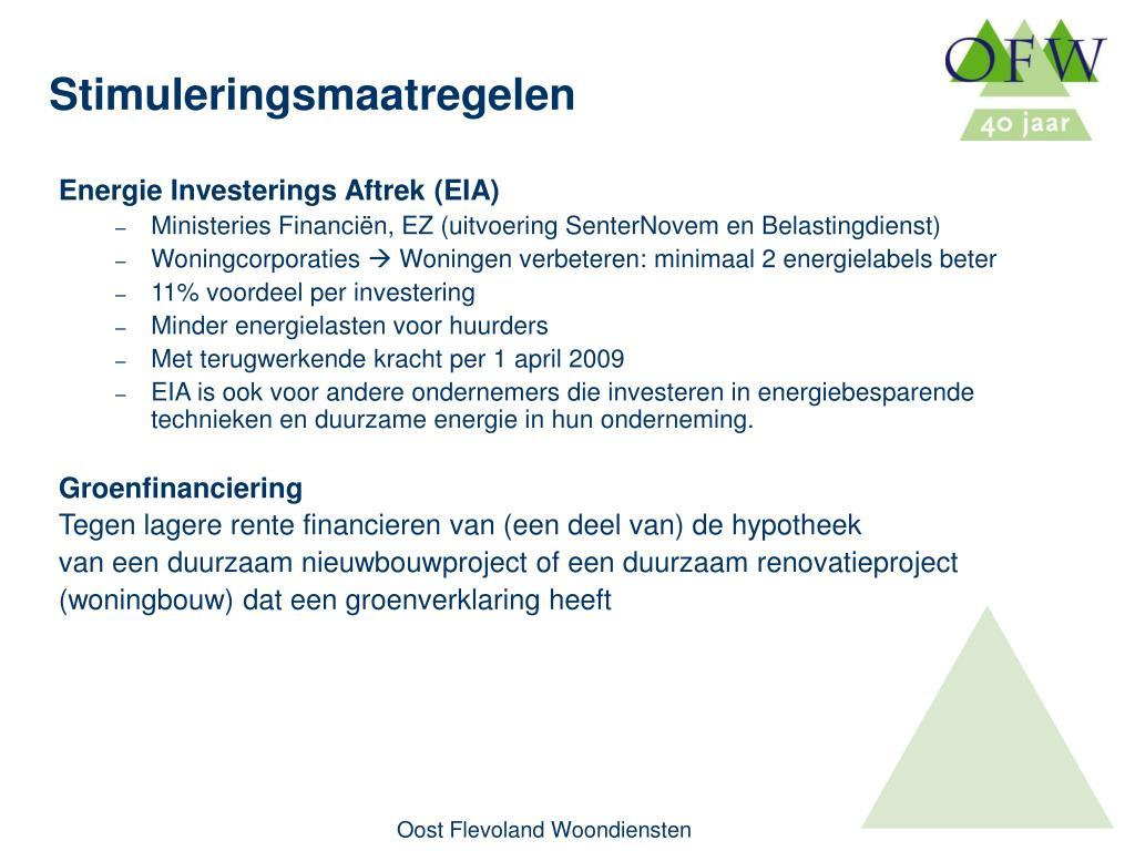 Energie Investerings Aftrek (EIA)