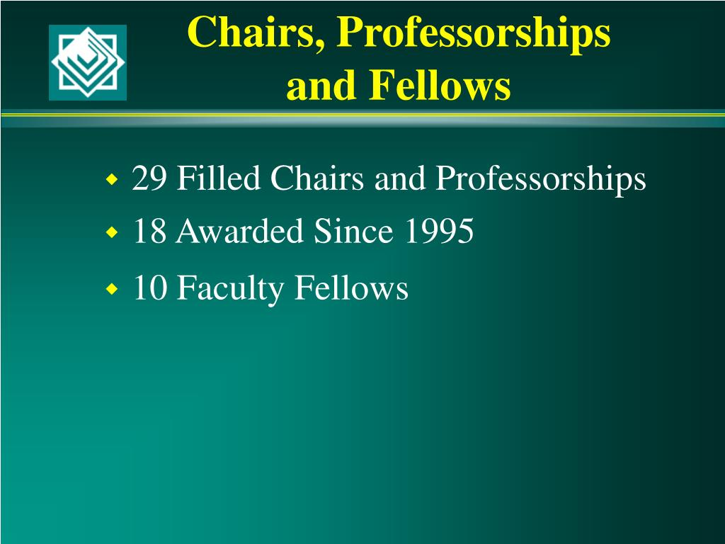 Chairs, Professorships