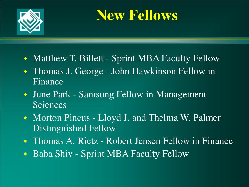 New Fellows