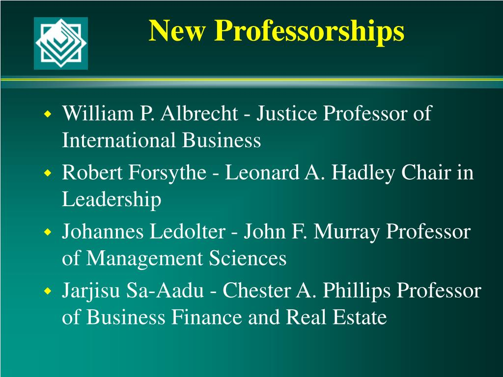 New Professorships