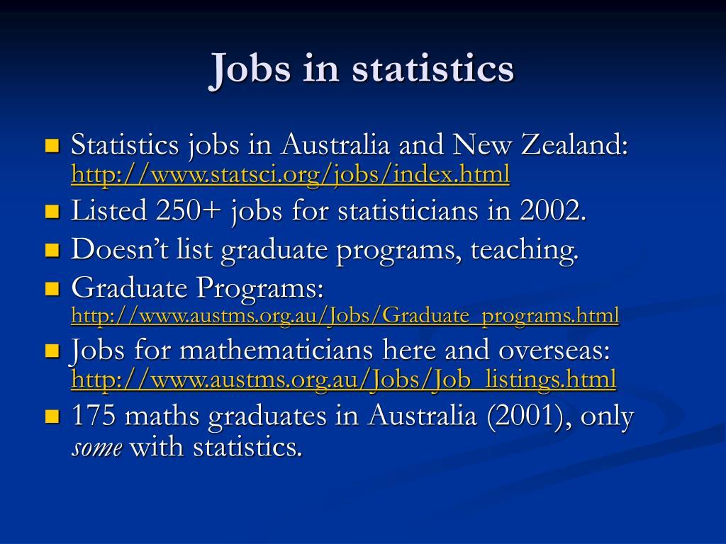 Jobs in statistics
