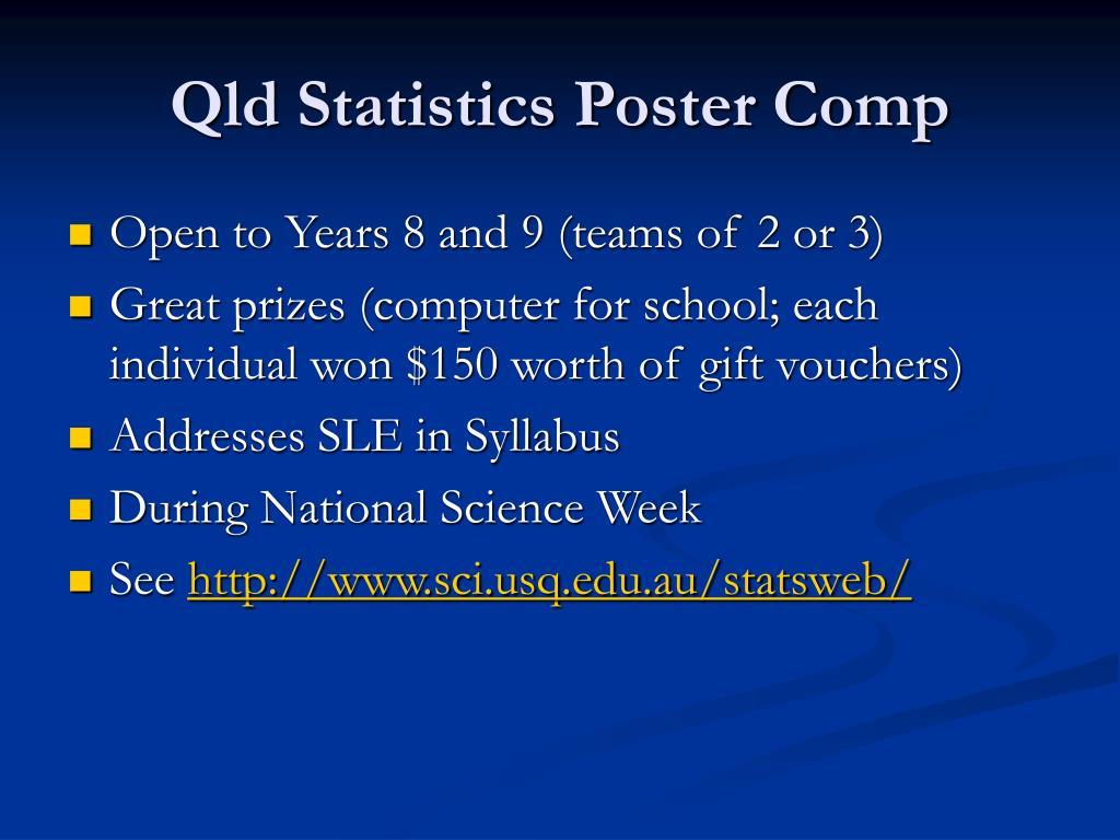 Qld Statistics Poster Comp