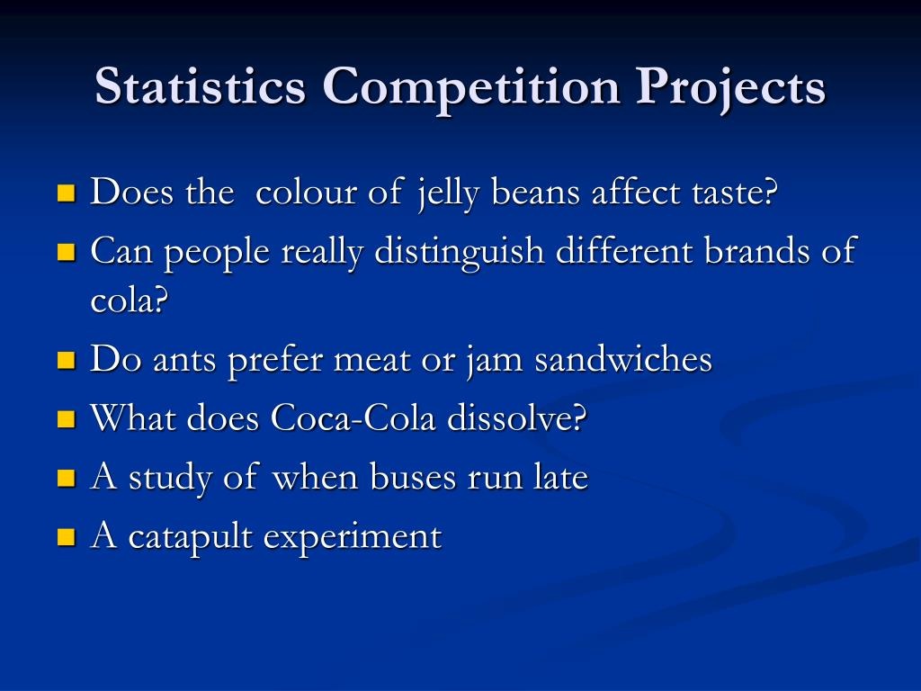 Statistics Competition Projects