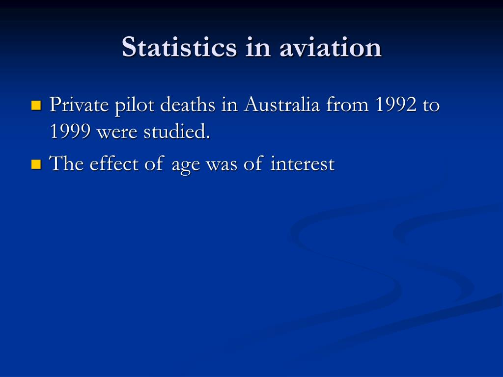 Statistics in aviation