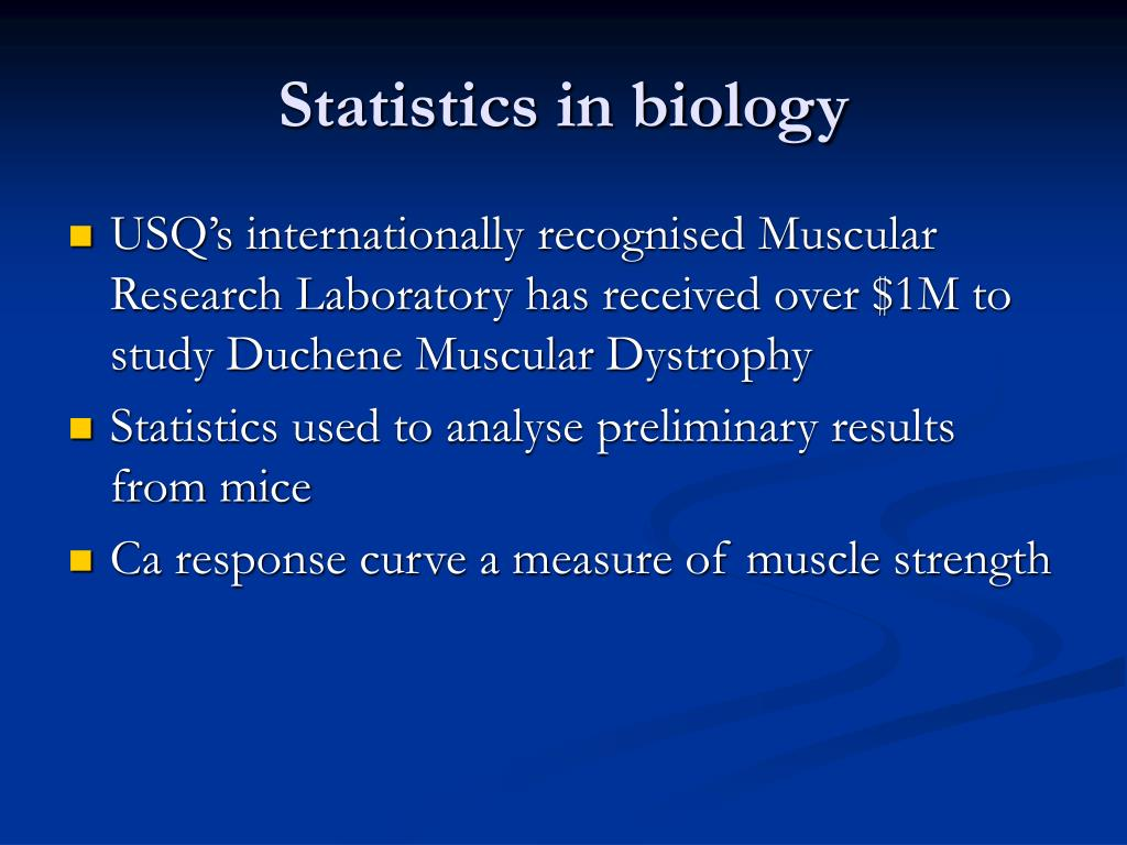 Statistics in biology