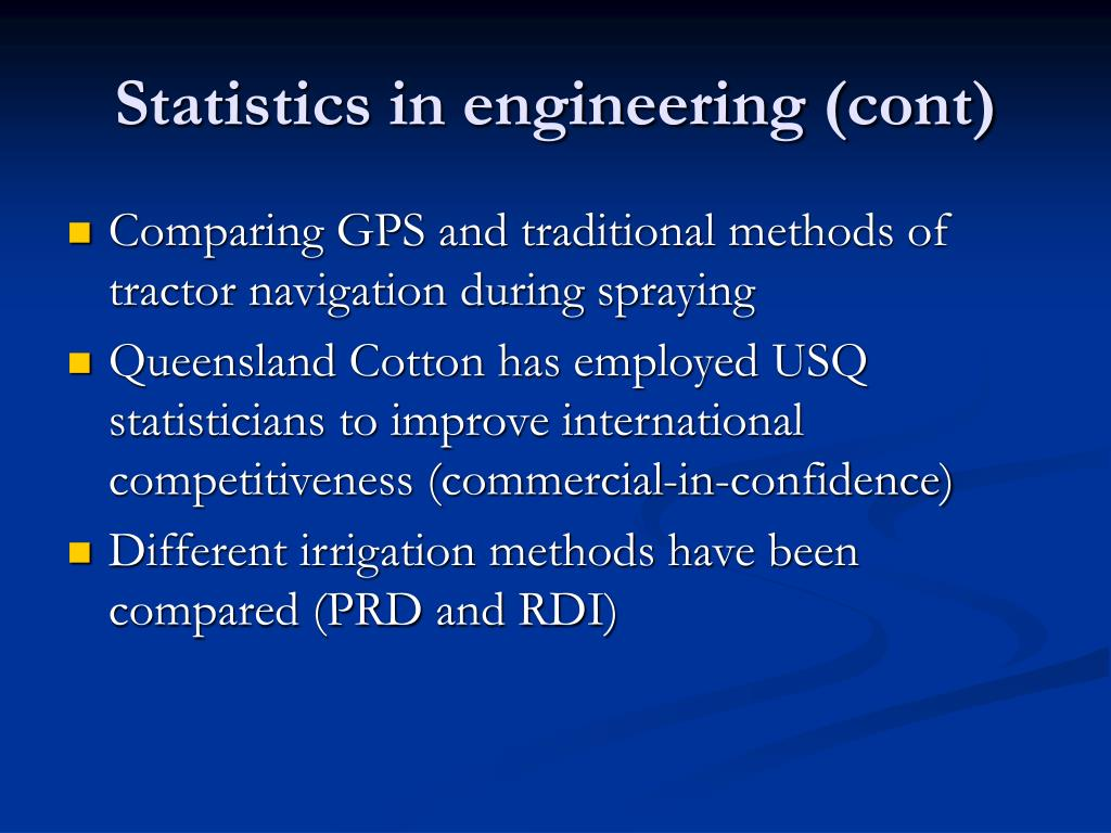 Statistics in engineering (cont)