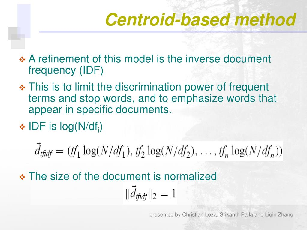 Centroid-based method
