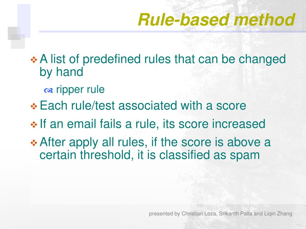 Rule-based method