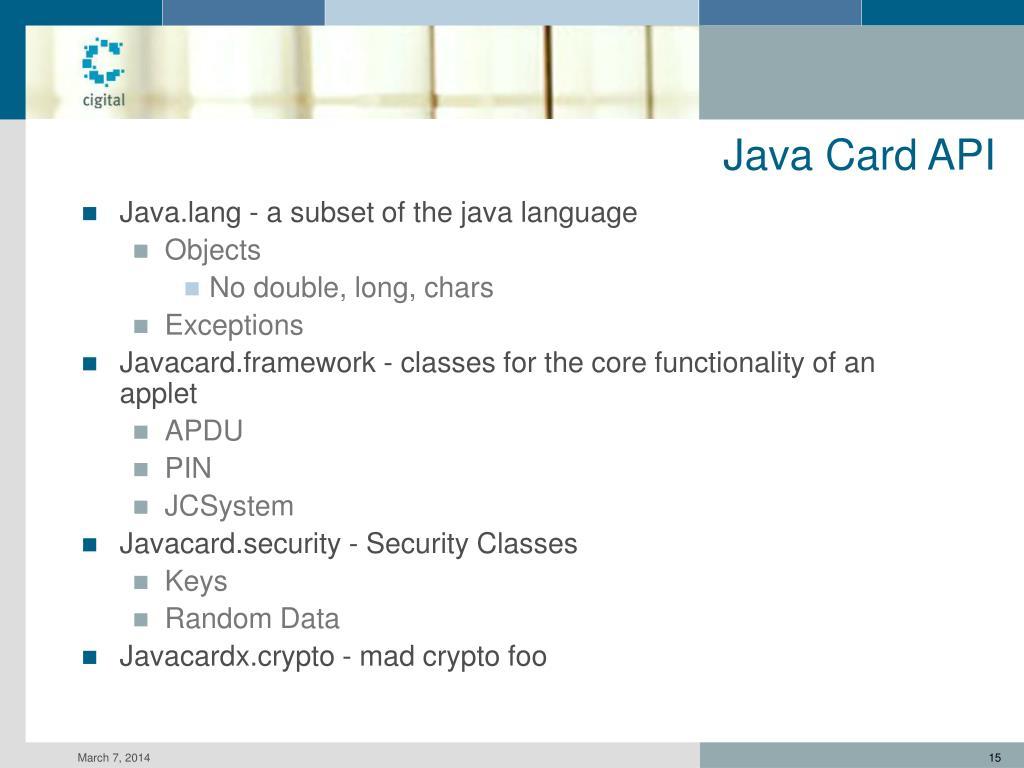 Java Card API