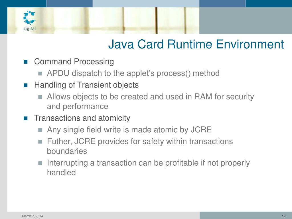 Java Card Runtime Environment
