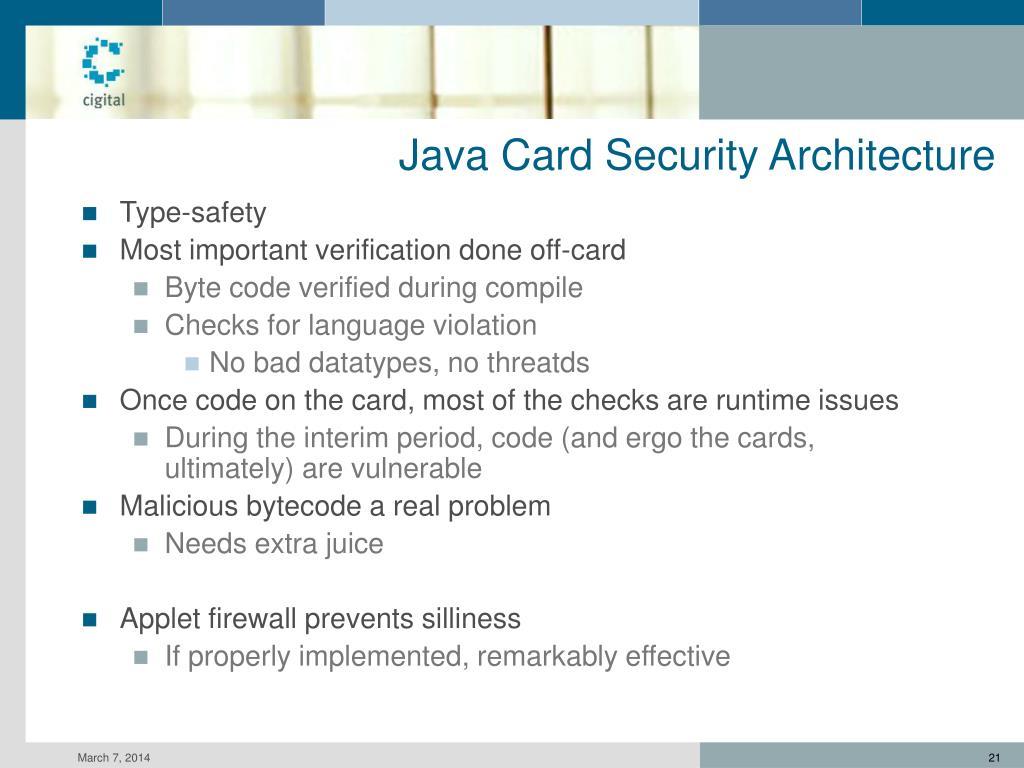 Java Card Security Architecture