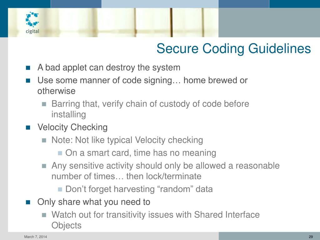 Secure Coding Guidelines