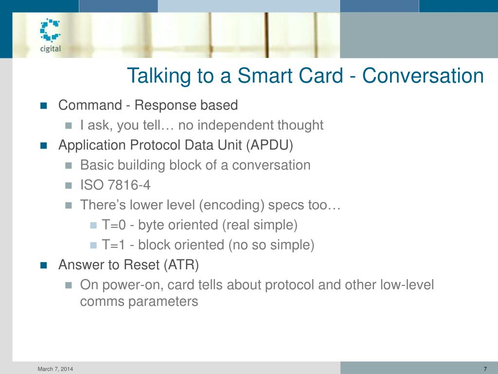 Talking to a Smart Card - Conversation