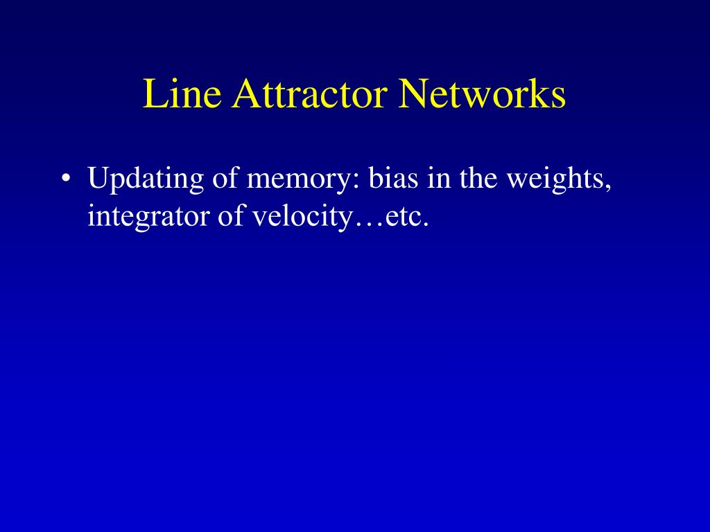 Line Attractor Networks