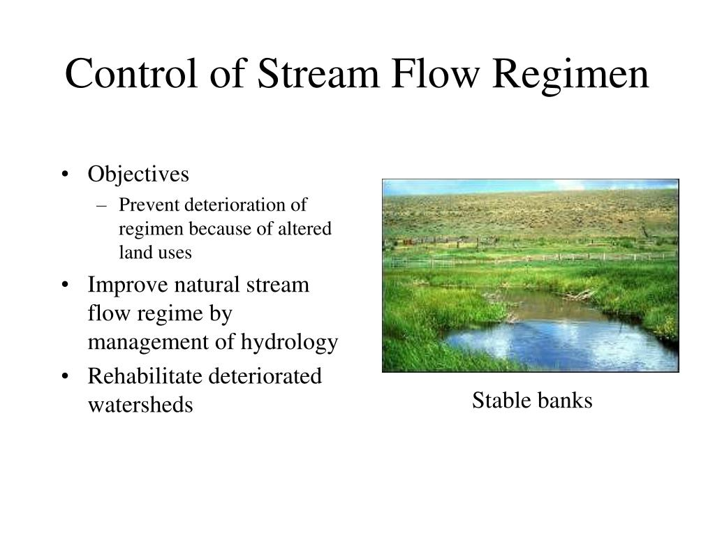 Control of Stream Flow Regimen