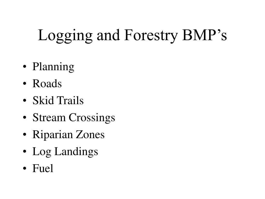 Logging and Forestry BMP's