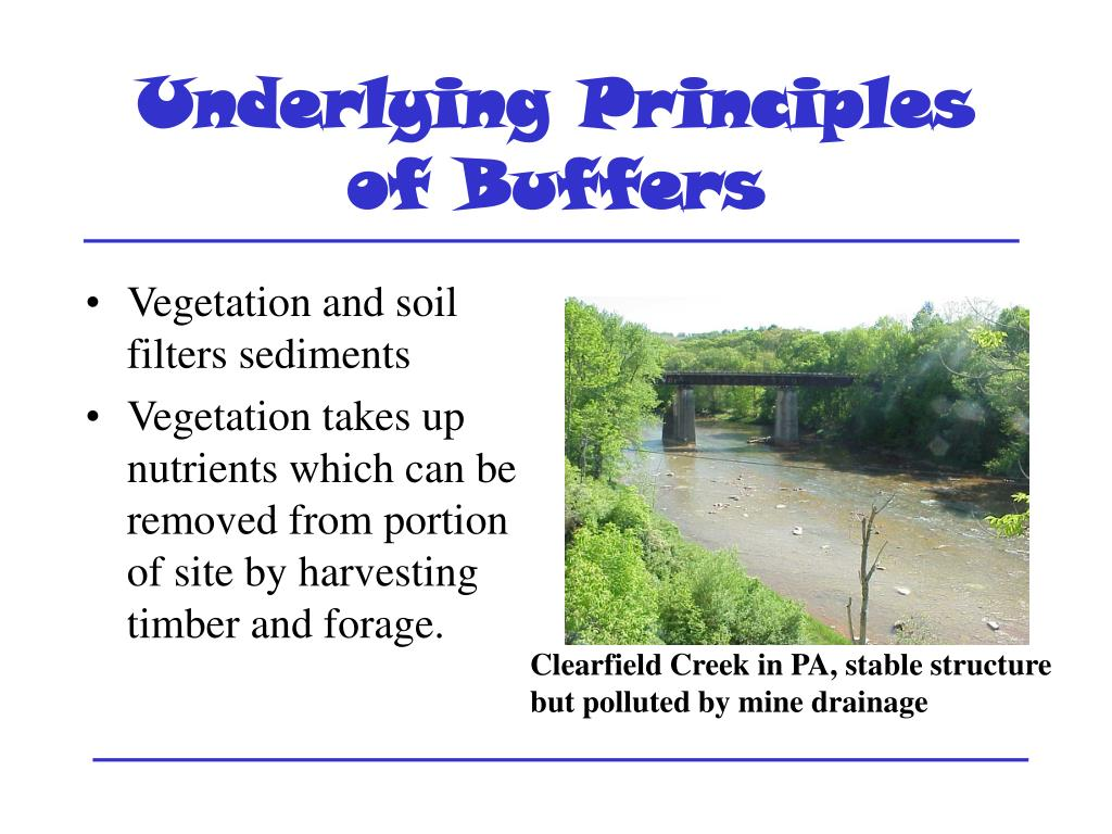 Underlying Principles of Buffers