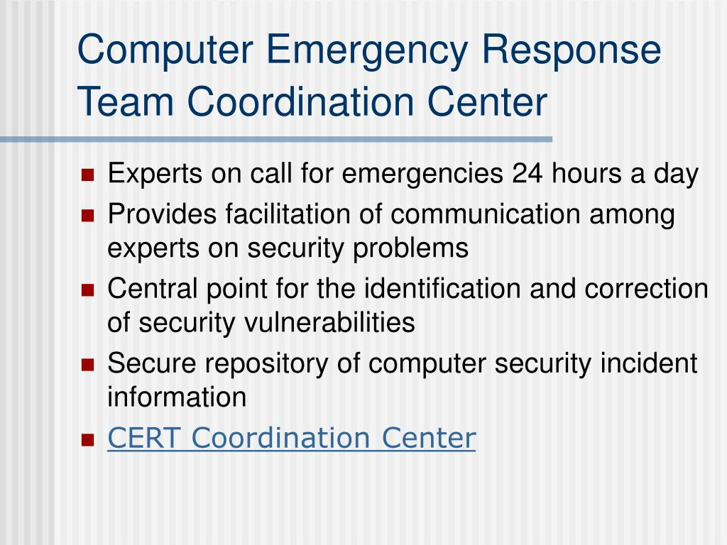 Computer Emergency Response Team Coordination Center