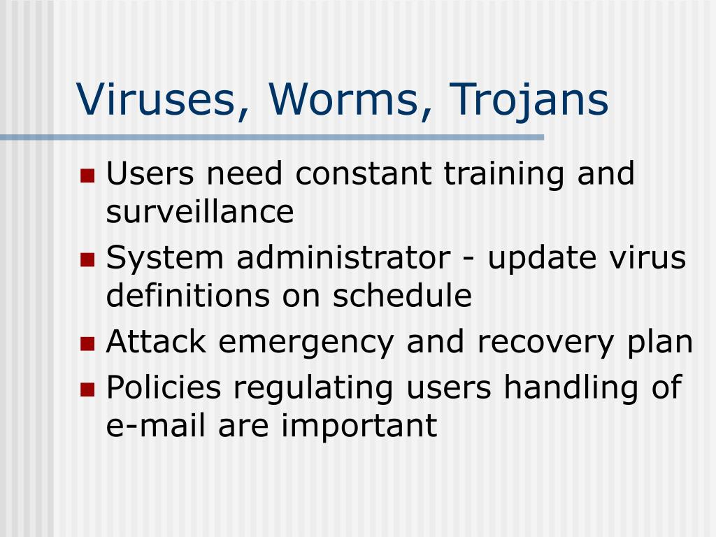 Viruses, Worms, Trojans
