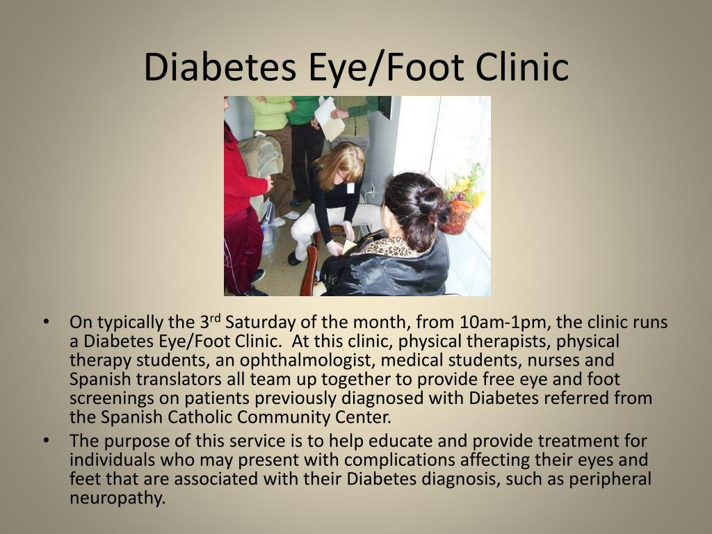 Diabetes Eye/Foot Clinic