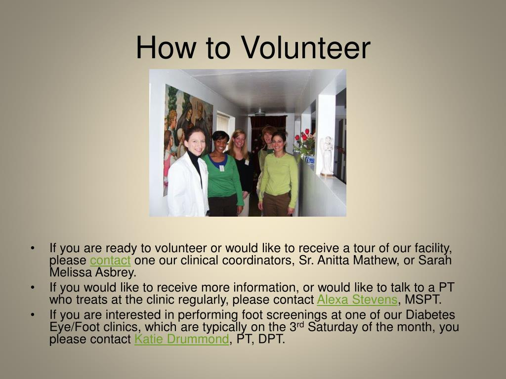 How to Volunteer