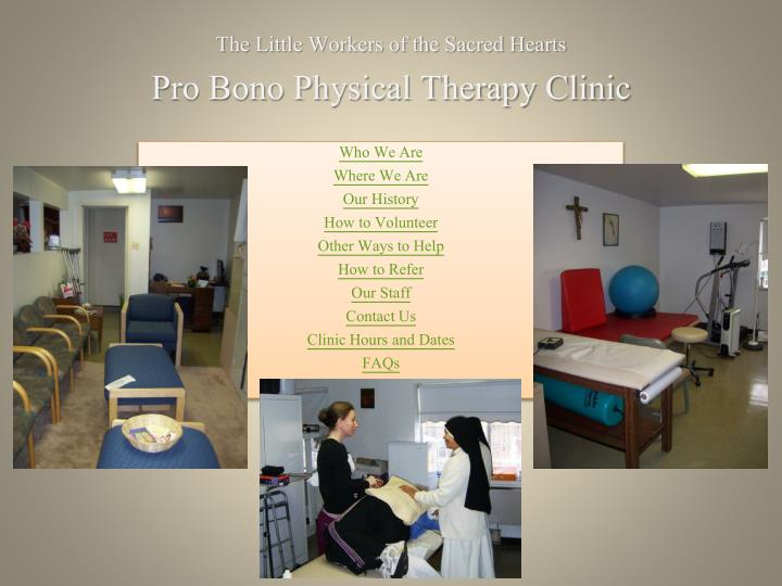 The little workers of the sacred hearts pro bono physical therapy clinic l.jpg