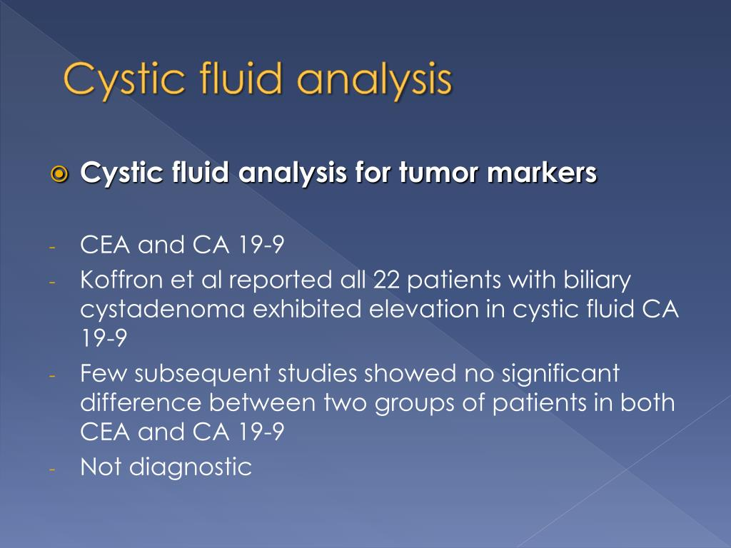Cystic fluid analysis