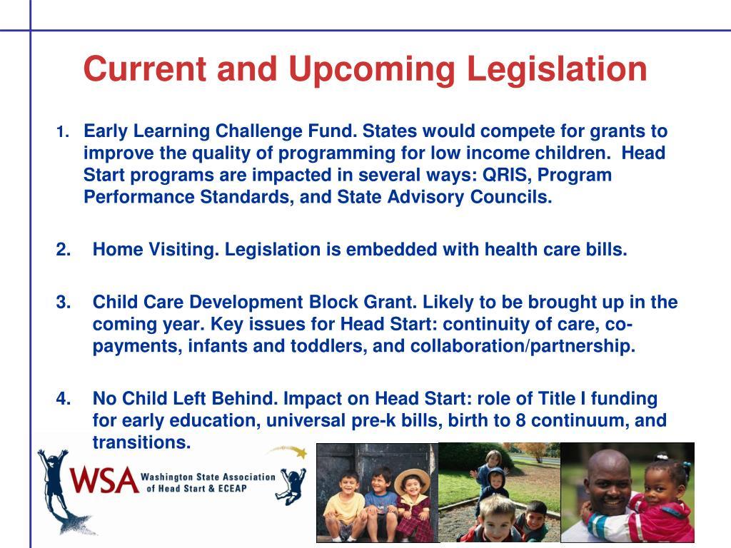 Current and Upcoming Legislation