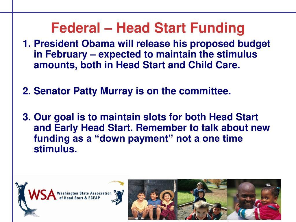 Federal – Head Start Funding
