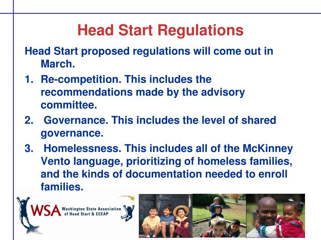 Head Start Regulations