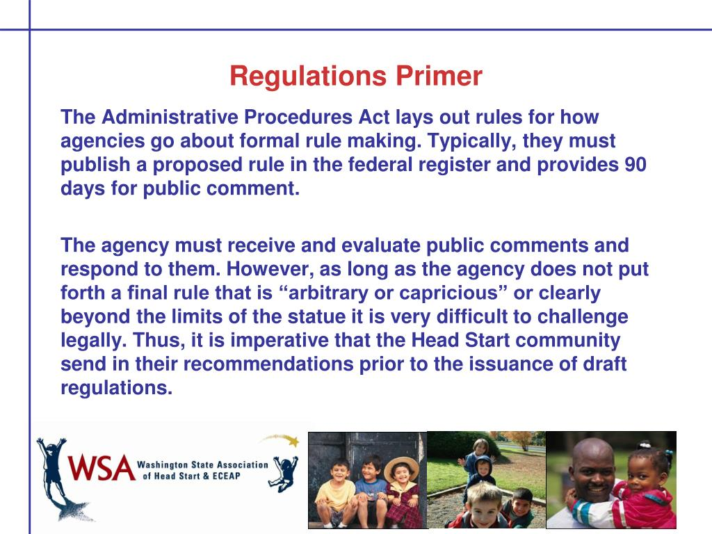 Regulations Primer