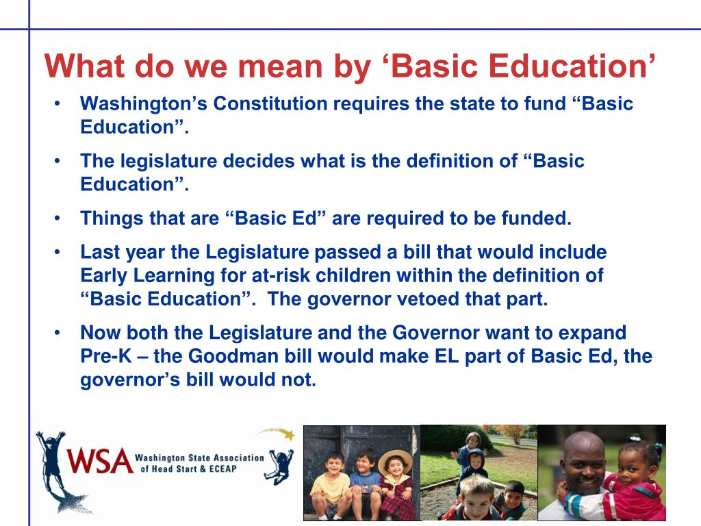 What do we mean by 'Basic Education'